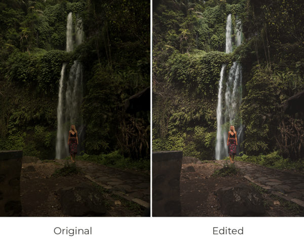 waterfall before and after