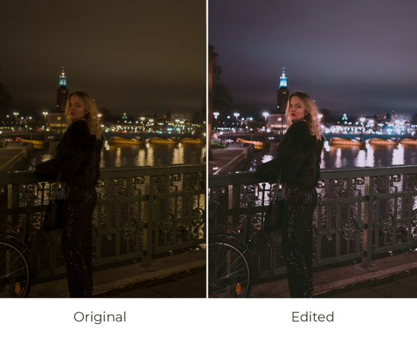 Stockholm by night before and after