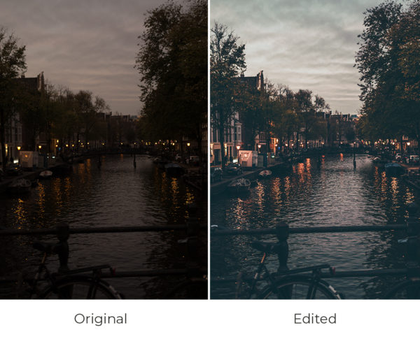 Down the river Amsterdam before and after