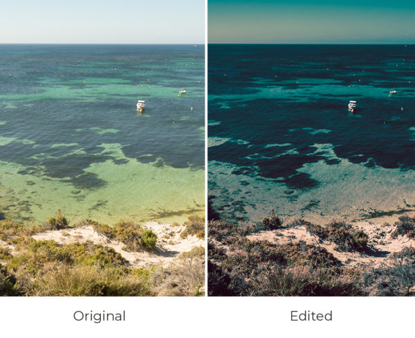 Rottnest island before and after