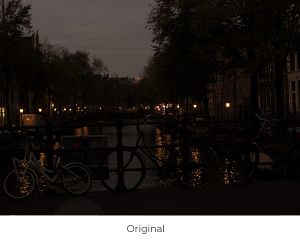 Amsterdam river night