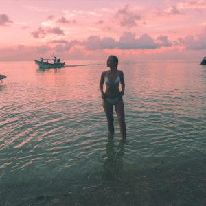 Pink sunset Thailand